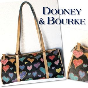 Dooney & Bourke black multi heart Bag